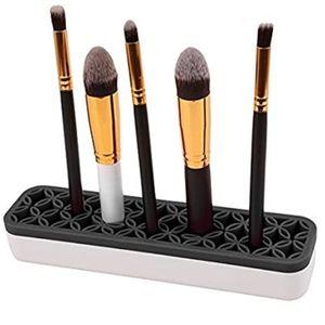 2 Silicone Makeup Brush Holders Organizer